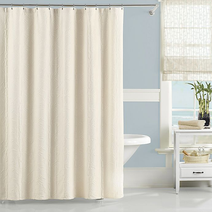 Alternate image 1 for Lamont Home™ Nepal 144-Inch x 72-Inch Shower Curtain in Ivory