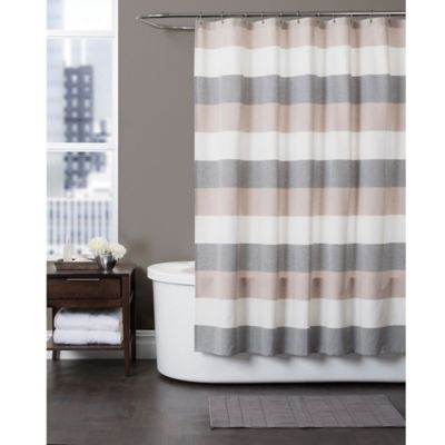 Baltic Linen Yarn Dyed Strata Striped Shower Curtain