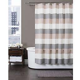 Baltic Linen Yarn-Dyed Strata Striped Shower Curtain