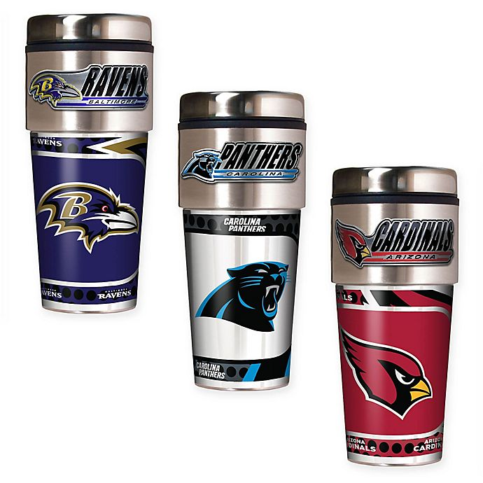 Alternate image 1 for NFL 16 oz. Stainless Steel Travel Tumbler