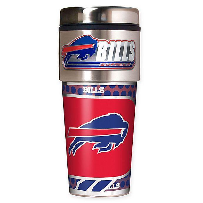 Alternate image 1 for NFL Buffalo Bills 16 oz. Stainless Steel Travel Tumbler