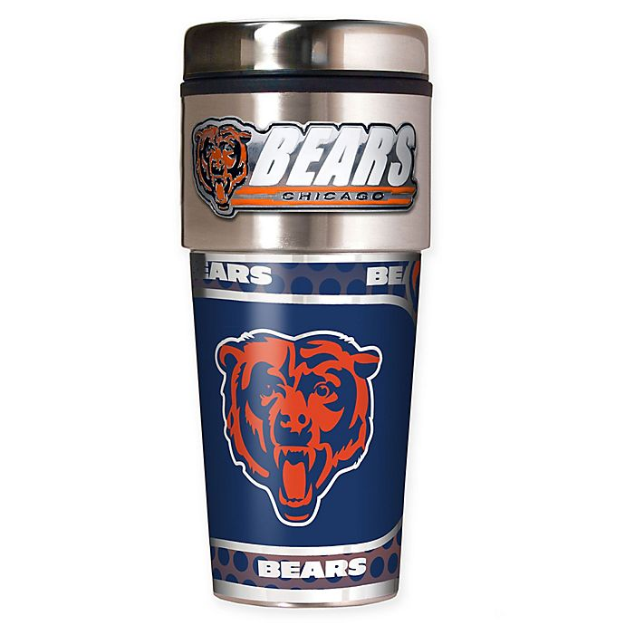 Alternate image 1 for NFL Chicago Bears 16 oz. Stainless Steel Travel Tumbler