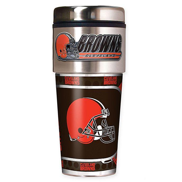 Alternate image 1 for NFL Cleveland Browns 16 oz. Stainless Steel Travel Tumbler