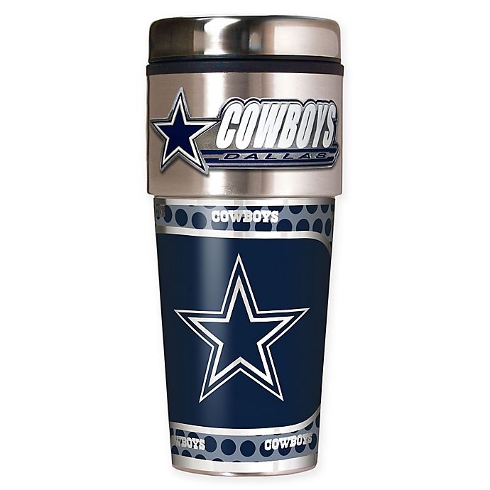 Dallas Cowboys Stainless Steel Coasters 4 Pack: NFL Dallas Cowboys 16 Oz. Stainless Steel Travel Tumbler