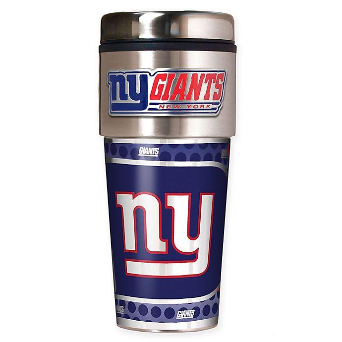 Alternate image 1 for NFL New York Giants 16 oz. Stainless Steel Travel Tumbler