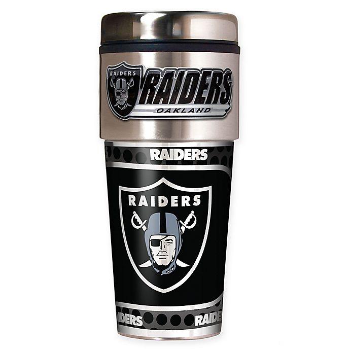 Alternate image 1 for NFL Oakland Raiders 16 oz. Stainless Steel Travel Tumbler