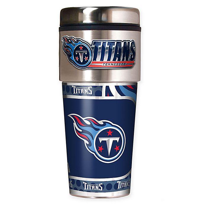 Alternate image 1 for NFL Tennessee Titans 16 oz. Stainless Steel Travel Tumbler