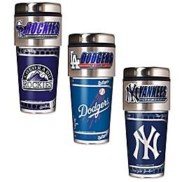 MLB 16 oz. Metallic Tumbler Collection