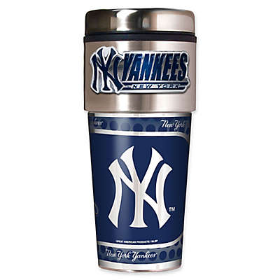 MLB New York Yankees 16 oz. Metallic Tumbler