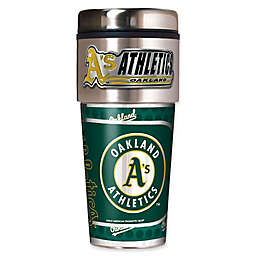 MLB Oakland Athletics 16 oz. Metallic Tumbler