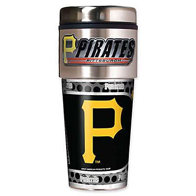 MLB Pittsburgh Pirates 16 oz. Metallic Tumbler