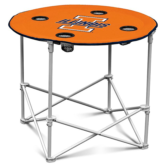 Alternate image 1 for University of Illinois Round Collapsible Table