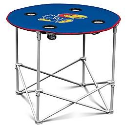 University of Kansas Round Collapsible Table