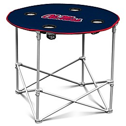 University of Mississippi Round Collapsible Table
