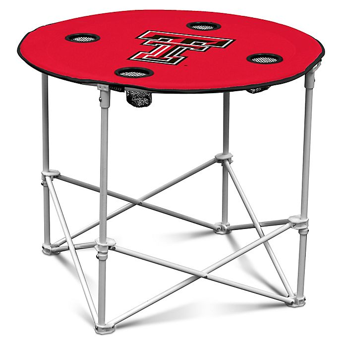 Alternate image 1 for Texas Tech University Round Collapsible Table