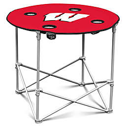 University of Wisconsin Round Collapsible Table