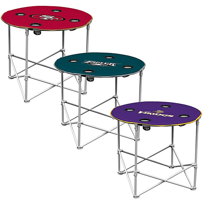 Nfl Round Collapsible Table