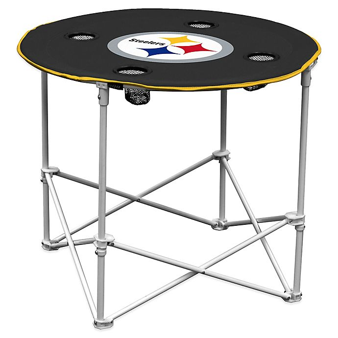 Alternate image 1 for NFL Pittsburgh Steelers Round Collapsible Table