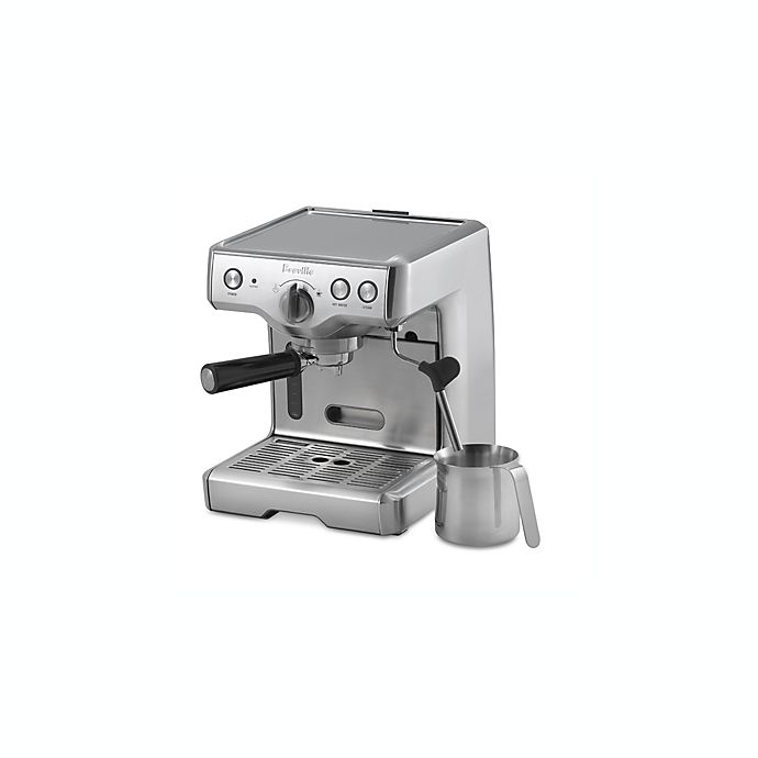 Alternate image 1 for Breville® Die-Cast Model 800ESXL Semi-Automatic Espresso Machine