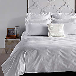 Frette At Home Piave California King Sheet Set in White/White