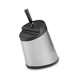 Kapoosh Slotless Stainless Steel Knife Block