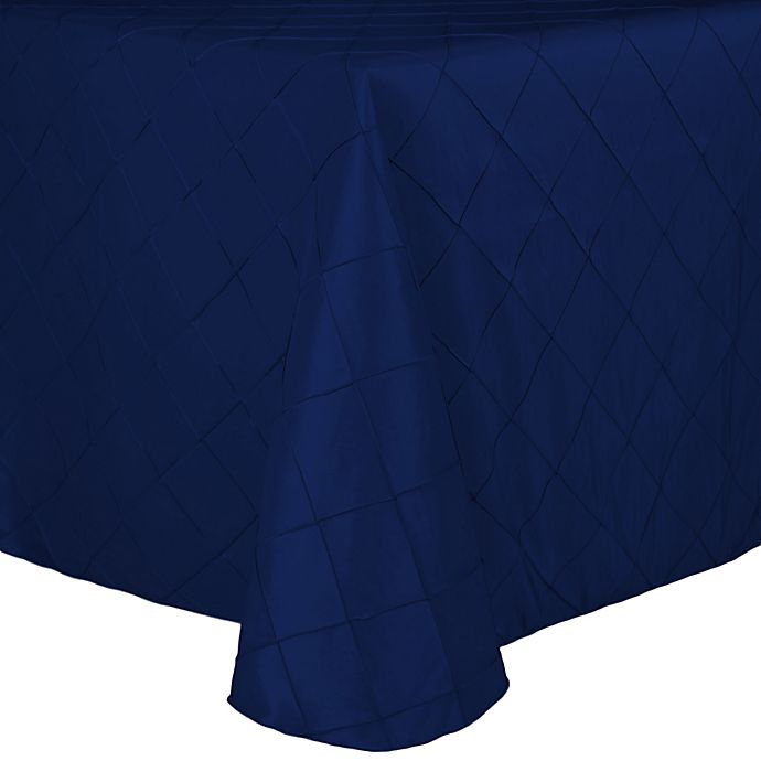 Alternate image 1 for Bombay Diamond-Stitched Pintuck 60-Inch x 90-Inch Tablecloth in Royal