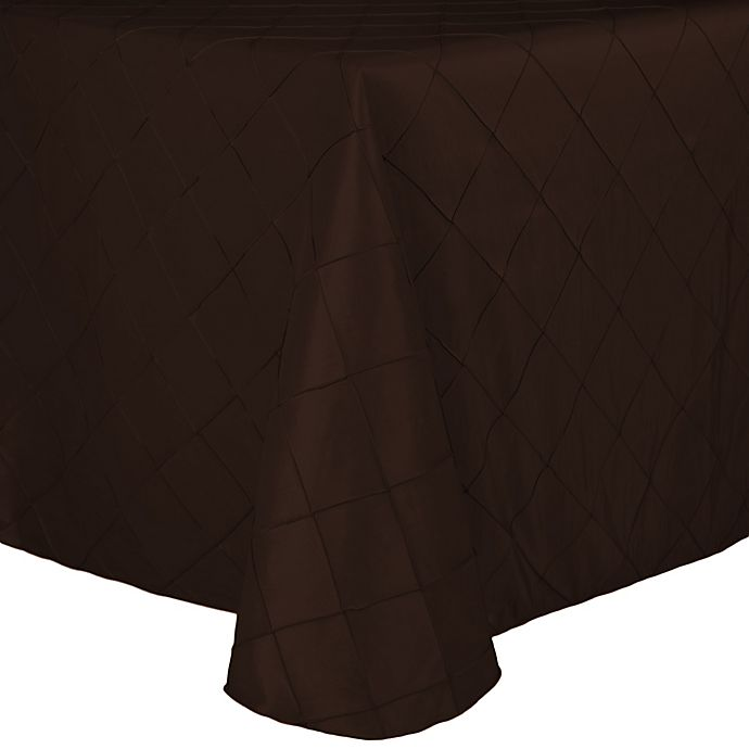 Alternate image 1 for Bombay Diamond-Stitched Pintuck 72-Inch x 108-Inch Tablecloth in Espresso