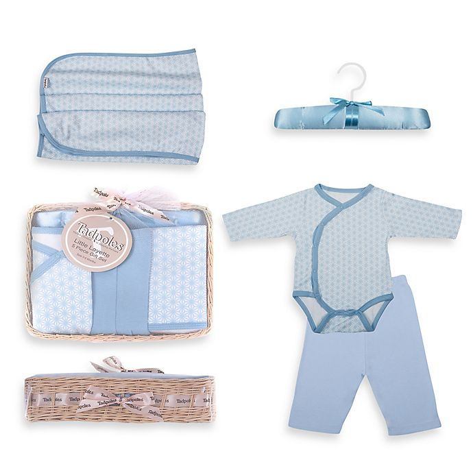 Alternate image 1 for Tadpoles™ by Sleeping Partners Starburst Size 6-12M 5-Piece Layette Baby Gift Set in Blue