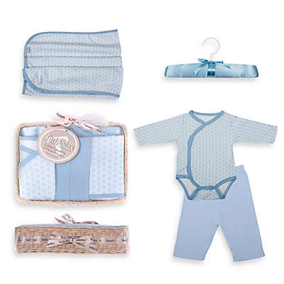 Tadpoles™ by Sleeping Partners Starburst Size 6-12M 5-Piece Layette Baby Gift Set in Blue