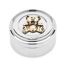 Godinger Teddy Bear Gold Accent Trinket Box