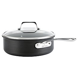 All-Clad B1 Hard Anodized Nonstick 4 qt. Sauté Pan with Lid