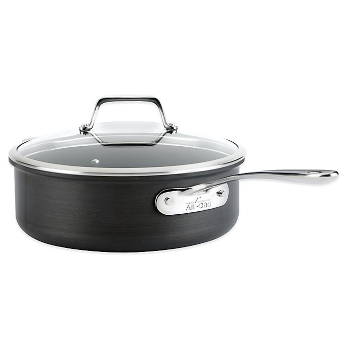Alternate image 1 for All-Clad B1 Hard Anodized Nonstick 4 qt. Sauté Pan with Lid