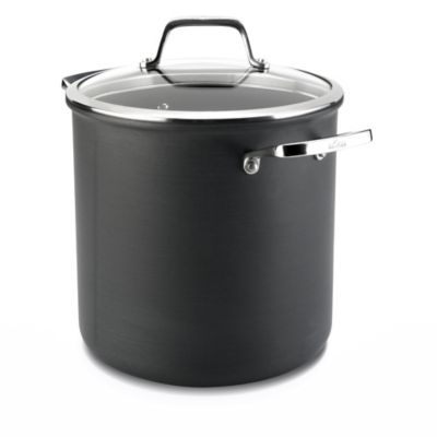 All Clad B1 Hard Anodized Nonstick 8 Qt Stock Pot With Lid
