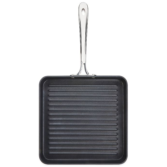 Alternate image 1 for All-Clad B1 Hard Anodized Nonstick 11-Inch Flat Square Grille Pan