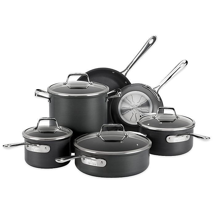 Alternate image 1 for All-Clad B1 Hard Anodized Nonstick 10-Piece Cookware Set and Open Stock