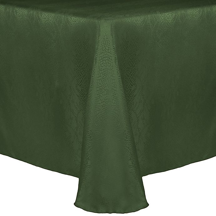 Alternate image 1 for Kenya Damask 60-Inch x 90-Inch Oblong Tablecloth in Jungle Green