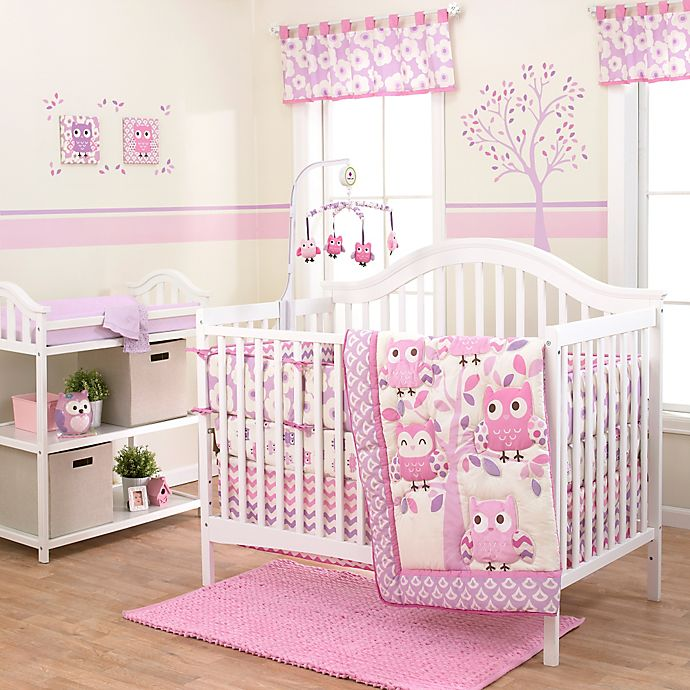 Belle Dancing Owl Crib Bedding