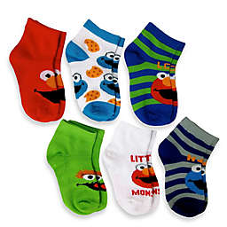 6-Pack Elmo Boys Quarter Socks in Assorted Designs