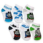 Size 2-4T 6-Pack Thomas & Friends™ Boys Quarter Socks in Assorted Designs