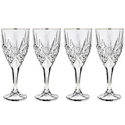 Godinger Platinum 9 oz. Goblet Glasses (Set of 4)