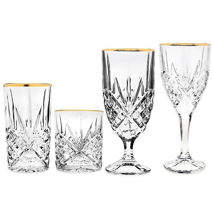 Alternate image 1 for Godinger Gold Barware Glasses Collection (Set of 4)