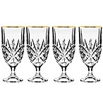 Godinger Gold 14 oz. Iced Beverage Glasses (Set of 4)