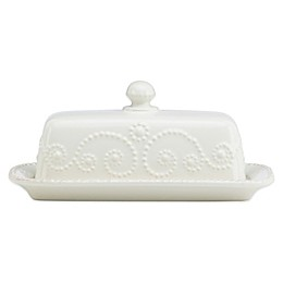 Lenox® French Perle™ Covered Butter Dish in White