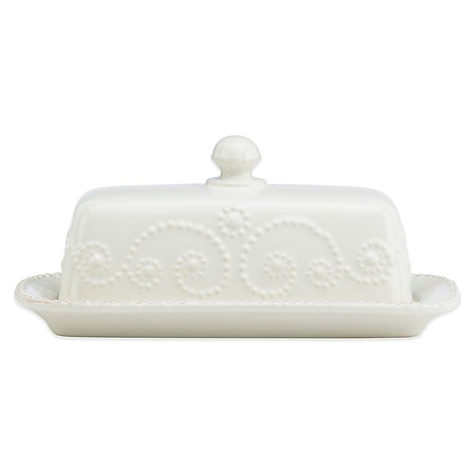 Alternate image 1 for Lenox® French Perle™ Covered Butter Dish in White