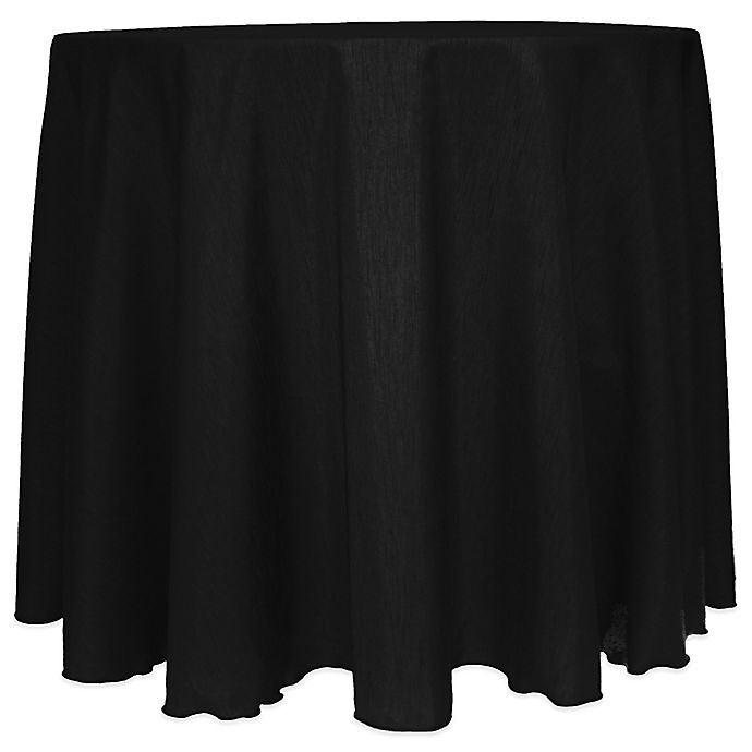 Alternate image 1 for Majestic Satin Finished 90-Inch Round Tablecloth in Black