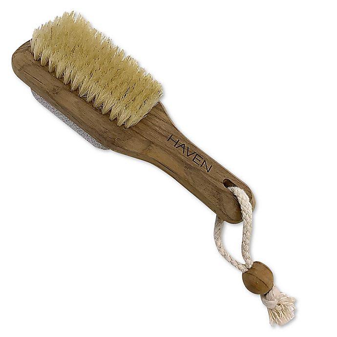 Alternate image 1 for Haven™ Teakwood 2-in-1 Foot Brush