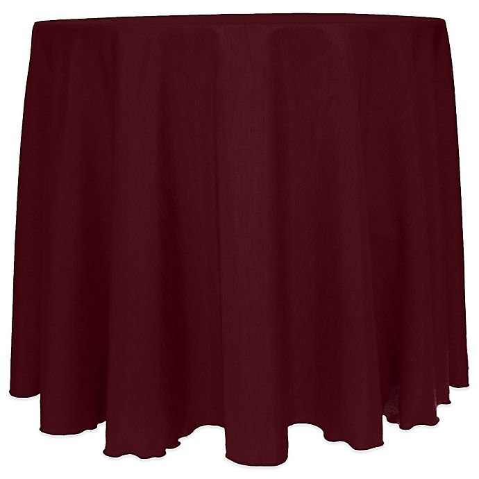 Alternate image 1 for Majestic Satin Finished 90-Inch Round Tablecloth in Burgundy