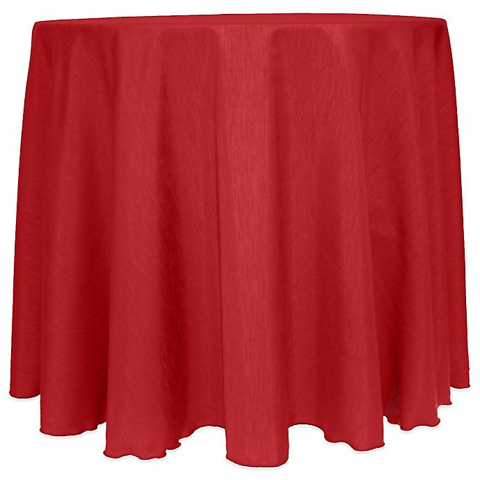 Alternate image 1 for Majestic Satin Finished 90-Inch Round Tablecloth in Holiday Red