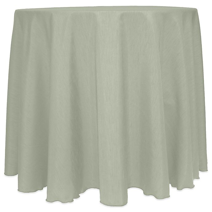 Alternate image 1 for MajesticSatin Finished 90-Inch Round Tablecloth in Sage