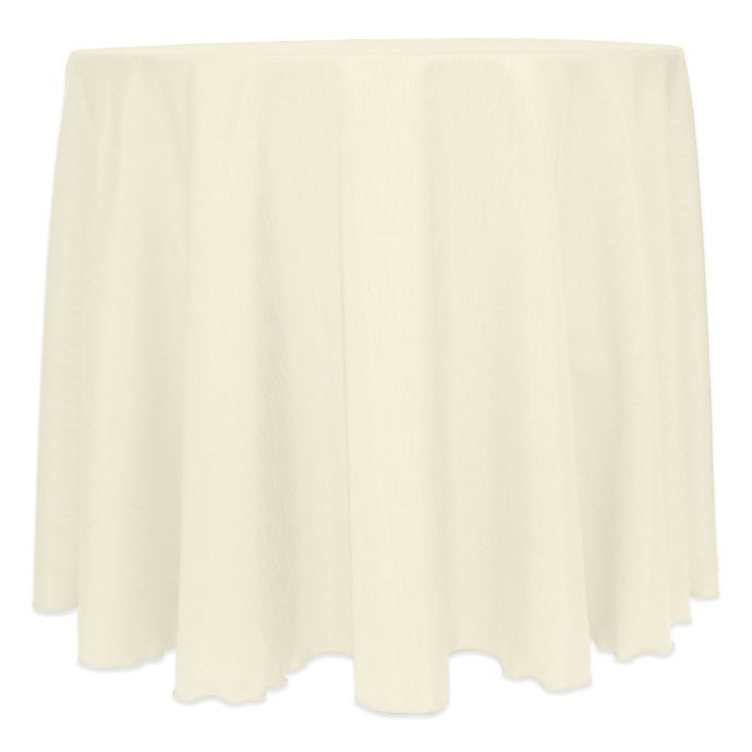 Alternate image 1 for Majestic Satin Finished 120-Inch Round Tablecloth in Ivory